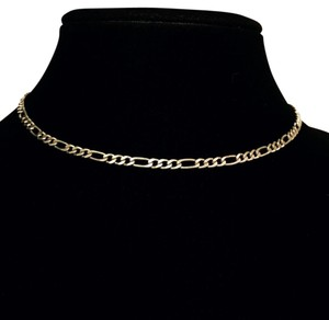 Other vintage Italy 925 sterling silver hallmarked flat figaro choker necklace