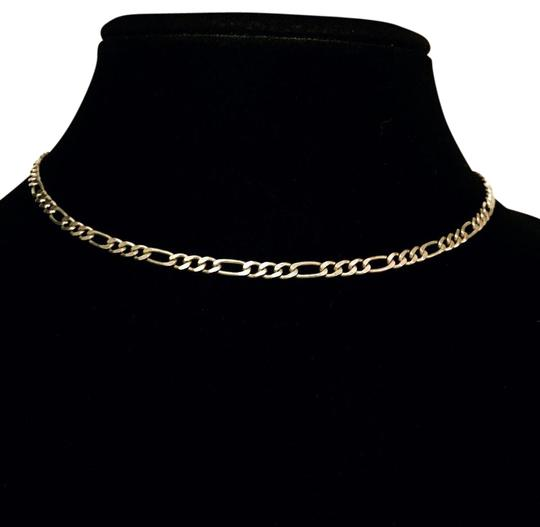 Preload https://img-static.tradesy.com/item/21200851/silver-vintage-italy-925-sterling-hallmarked-flat-figaro-choker-necklace-0-1-540-540.jpg