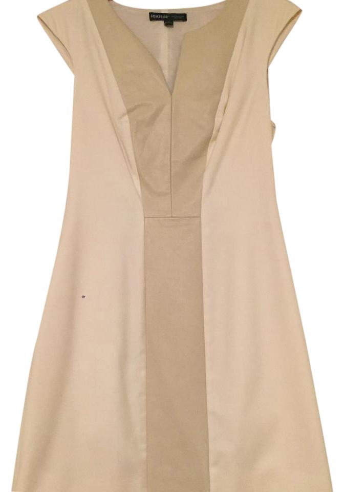 Saks Fifth Avenue Cream Short Cocktail Dress Size 4 (S) - Tradesy