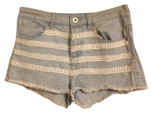 Bullhead Denim Co. Mini/Short Shorts light blue, white trim