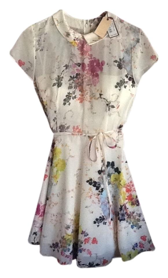 5d1a102ba Ted Baker Floral 97-creamws3 Gd34 Gracel Knee Length Night Out Dress ...