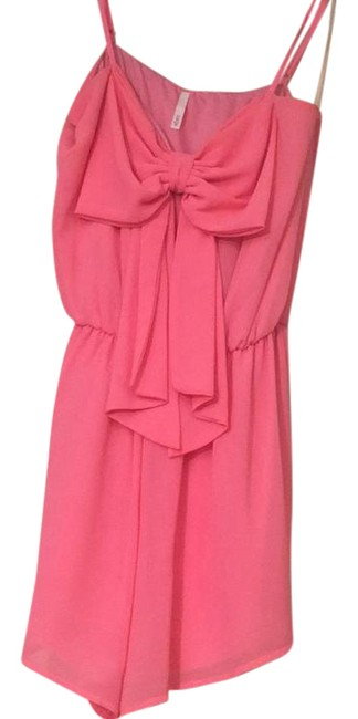 Preload https://img-static.tradesy.com/item/21200991/sage-pink-with-bow-short-romperjumpsuit-size-4-s-0-1-650-650.jpg