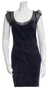 Diane von Furstenberg short dress Navy Blue, Black on Tradesy