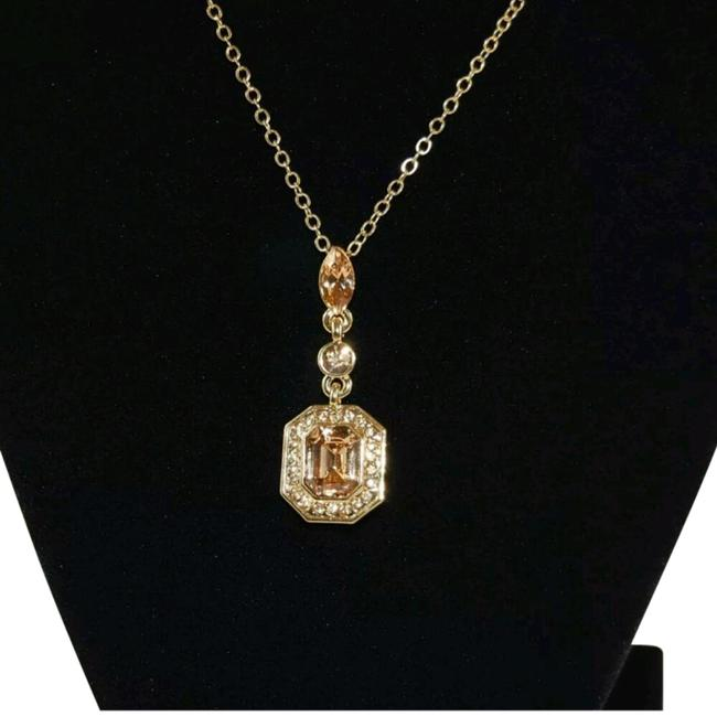 Carolee Gold Tone Crystal Pendant Necklace Carolee Gold Tone Crystal Pendant Necklace Image 1