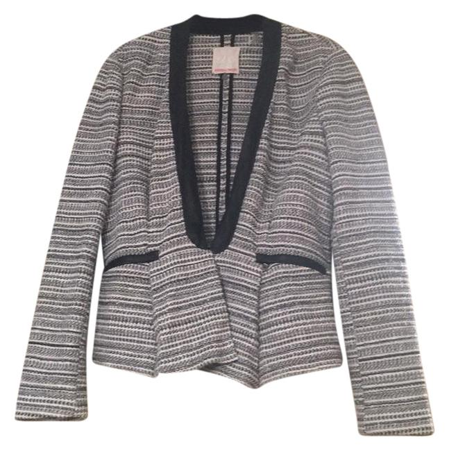 Rebecca Taylor Black, white, silver tweed Jacket
