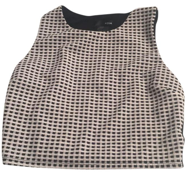 Preload https://img-static.tradesy.com/item/21201092/aqua-black-and-white-checkered-crop-tank-topcami-size-4-s-0-1-650-650.jpg