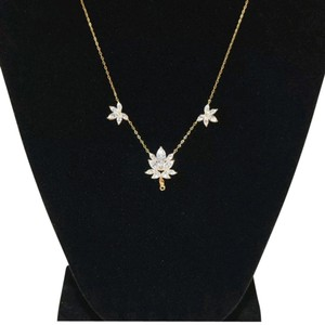 Nadri Gold tone floral crystal necklace
