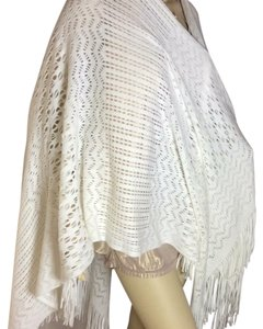 Kate Landry cream color cape long with fringe