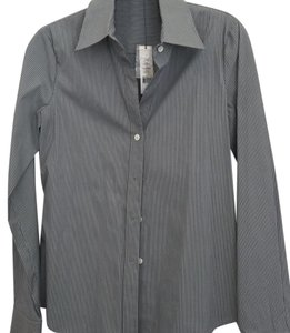 Theory Button Down Shirt Gray