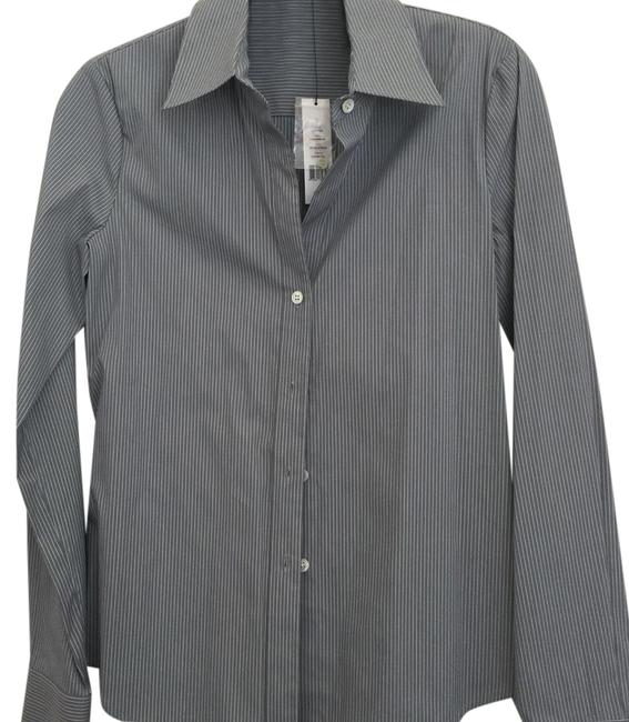 Preload https://img-static.tradesy.com/item/21201161/theory-gray-stripe-shirt-button-down-top-size-0-xs-0-1-650-650.jpg