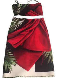 Clover Canyon Skirt Black white red green