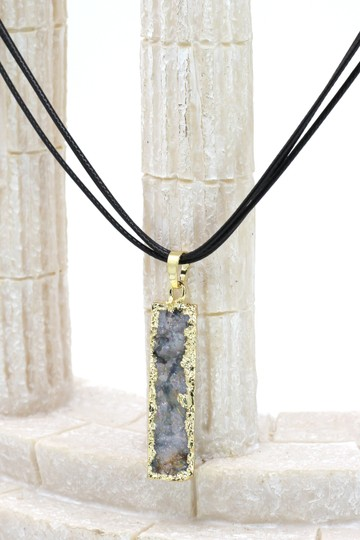Ocean Fashion Fashion shiny original marble leather necklace 2#