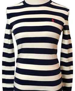 Ralph Lauren T Shirt Navy-Cream Stripe