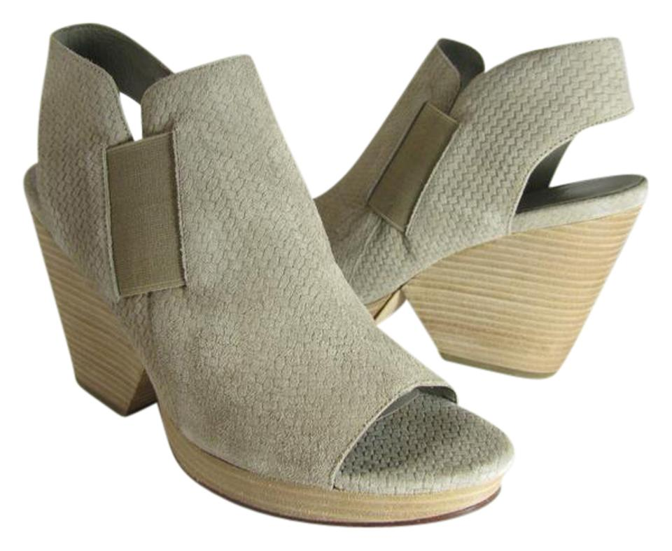 Eileen Fisher Beige/ Open Earth 'plus' Basket Print Weave Heel Open Beige/ Toe Sandals e1c7c2
