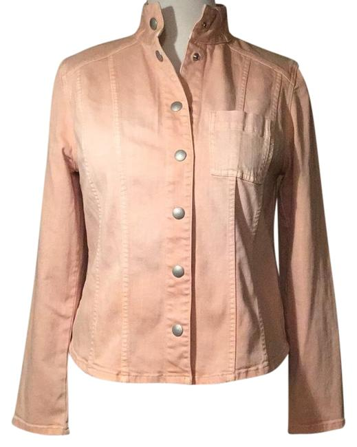 Item - Rose /Peach Denim Jacket Blazer Size 12 (L)