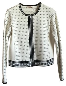 Tory Burch Dotted Black And White Cardigan