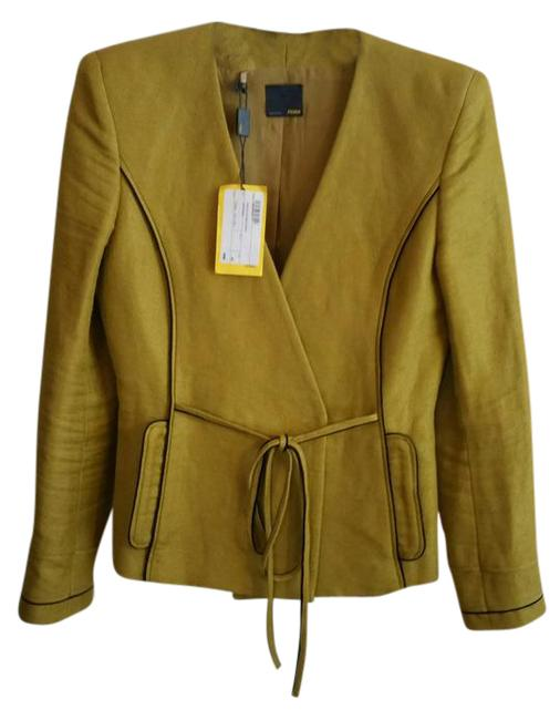 Item - Mustard Giacca Double Breasted Crepe Blazer Size 2 (XS)