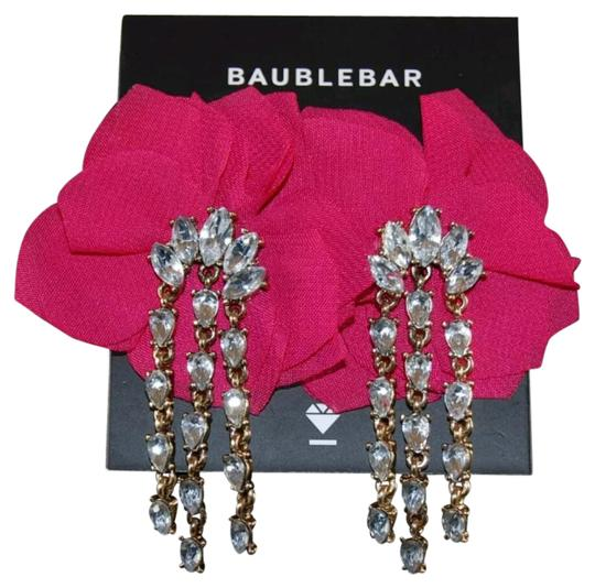 Preload https://img-static.tradesy.com/item/21201351/baublebar-hot-pink-amaryllis-floral-crystal-drop-earrings-0-2-540-540.jpg