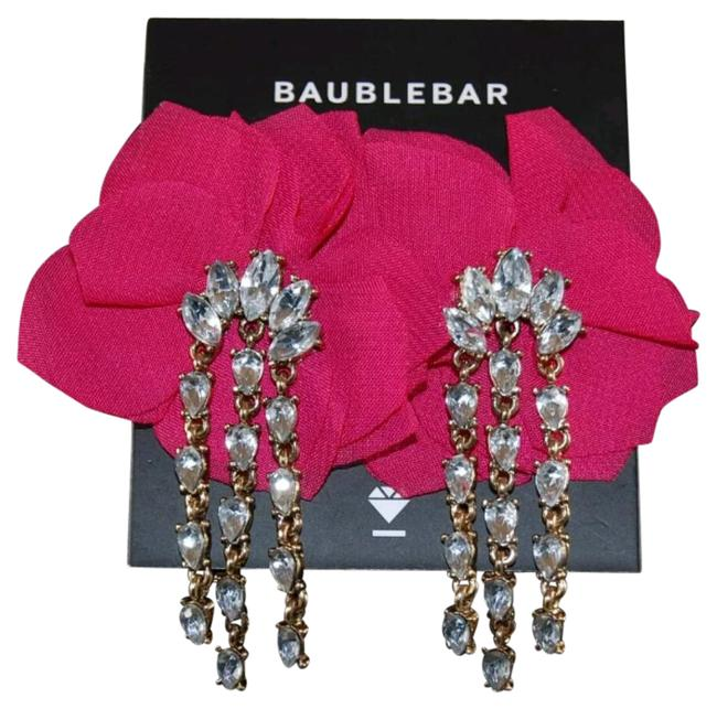 BaubleBar Hot Pink 'amaryllis' Floral Crystal Drop Earrings BaubleBar Hot Pink 'amaryllis' Floral Crystal Drop Earrings Image 1