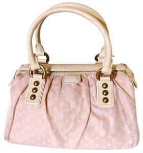 Louis Vuitton Mini Lin Trapeze Satchel in pink