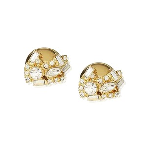 Banana Republic Banana Republic Rhinestones Gold Button Stud Earrings