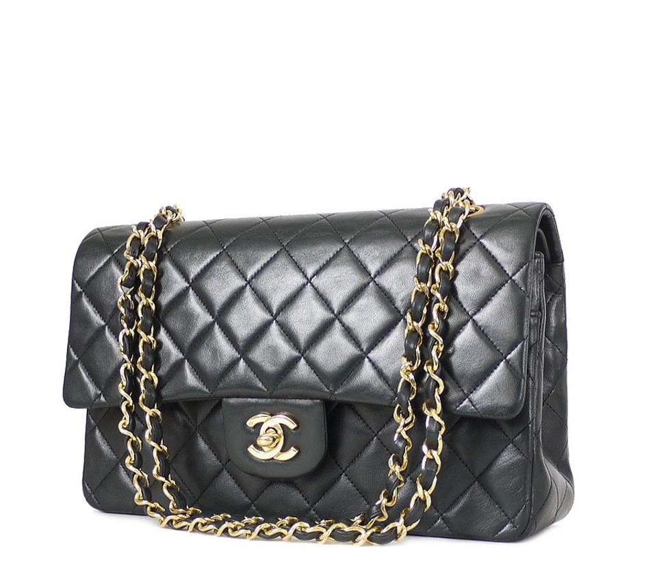 ec6bc8a2616e Chanel 2.55 Reissue Medium Double Flap Classic Black Lambskin ...