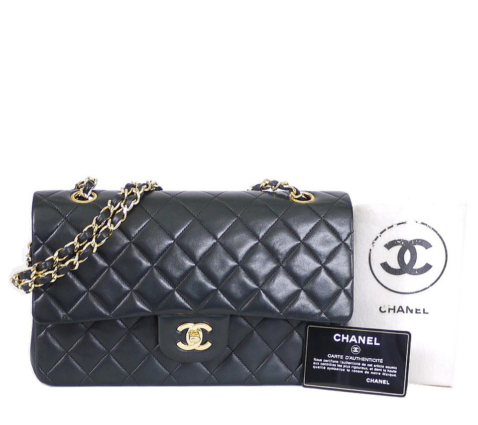 94275c28052f Chanel 2.55 Reissue Medium Double Flap Classic Black Lambskin Shoulder Bag