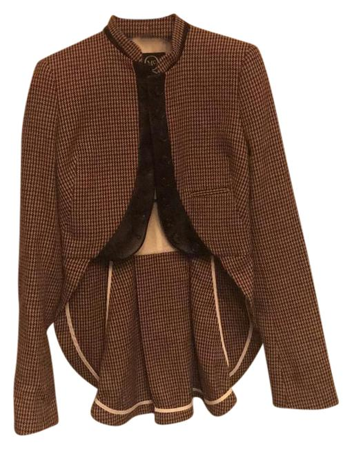 Preload https://img-static.tradesy.com/item/21201458/mcq-by-alexander-mcqueen-brown-and-tan-houndstooth-ba3-289825-blazer-size-00-xxs-0-1-650-650.jpg