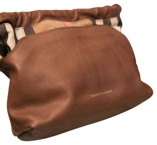 Item - House Check Little Crush Brown/Tan Brown Leather and Cloth Cross Body Bag