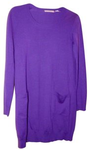 Purple Maxi Dress by Uniqlo Merino Wool Pockets Tunic
