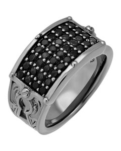Stephen Webster Stephen Webster black rhodium plated Men's No Regrets black sapphire