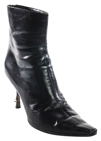 Preload https://img-static.tradesy.com/item/21201703/jimmy-choo-black-leather-pointed-toe-high-heel-ankle-bootsbooties-size-us-75-regular-m-b-0-1-540-540.jpg
