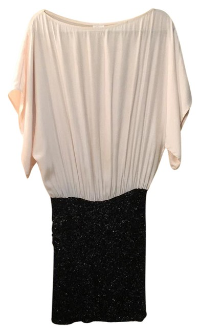 Preload https://img-static.tradesy.com/item/21201805/parker-ivory-and-black-sequined-short-cocktail-dress-size-2-xs-0-1-650-650.jpg