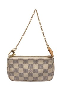 Louis Vuitton Louis Vuitton Damier Azur Canvas Leather Mini Pochette Bag