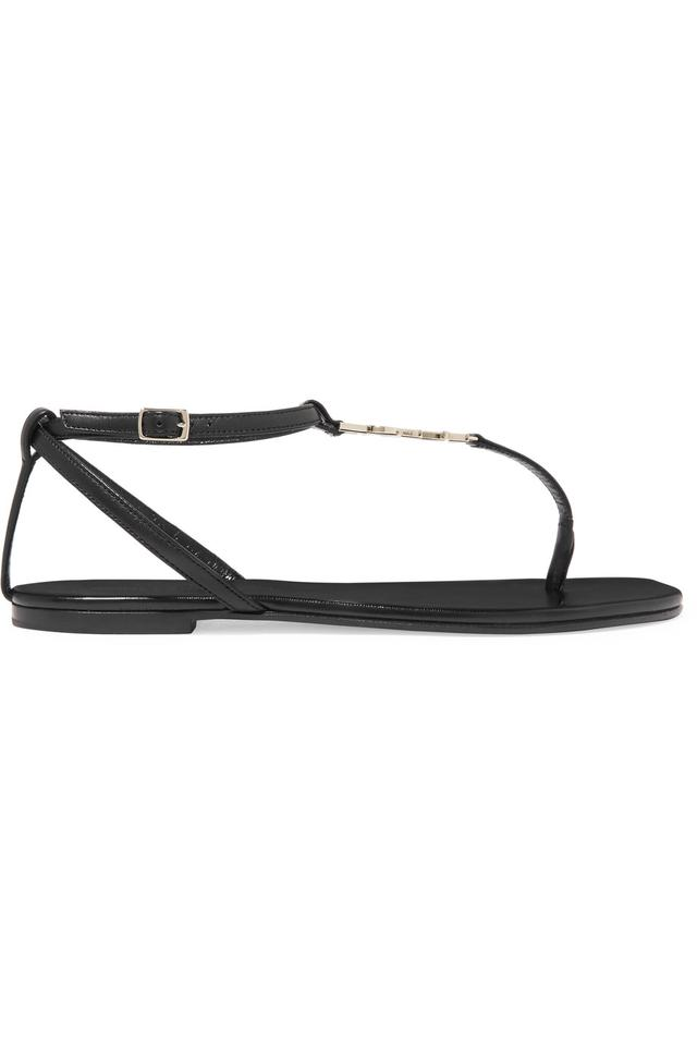 Saint Laurent Last One New Nu Pieds 05 Ysl Logo Flat