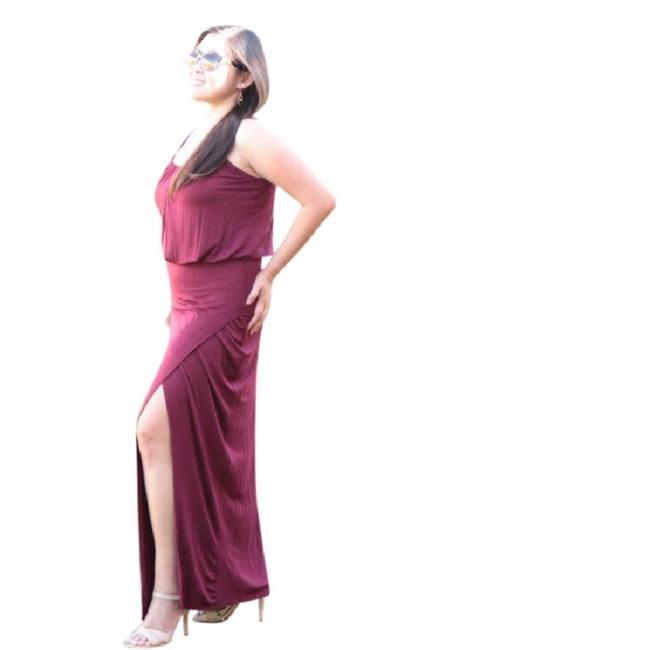 Maroon Maxi Dress by York Couture