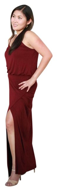 Preload https://img-static.tradesy.com/item/21201863/maroon-front-curve-slit-long-casual-maxi-dress-size-8-m-0-4-650-650.jpg