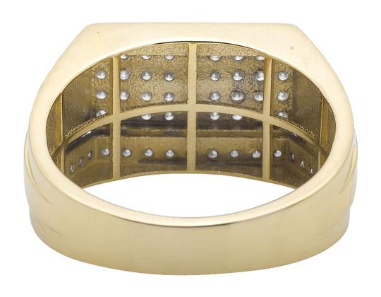 Other Multi Row Pave Diamond Step Shank Wedding Band Pinky Ring 0.98ct