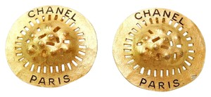Chanel CHANEL Gold Plated CC Vintage Earrings