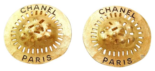 Chanel Gold Plated Cc Vintage Earrings Chanel Gold Plated Cc Vintage Earrings Image 1