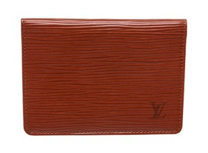 Louis Vuitton Louis Vuitton Sienna Brown Epi Leather Bifold ID Wallet