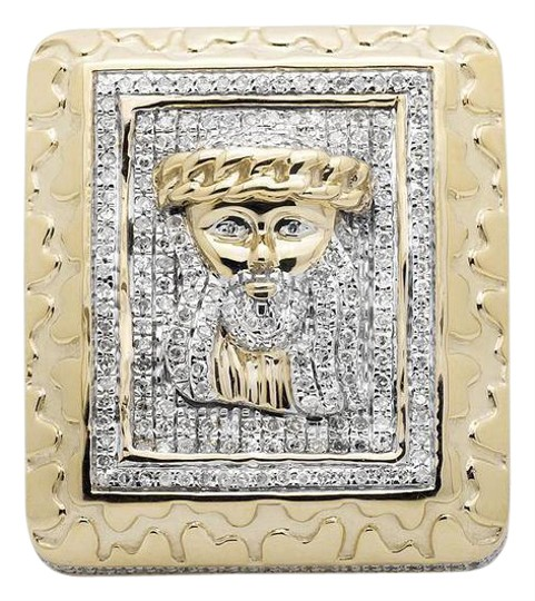 Preload https://img-static.tradesy.com/item/21202048/10k-yellow-gold-jesus-xl-rectangle-nugget-frame-3d-genuine-diamond-150ct-ring-0-1-540-540.jpg
