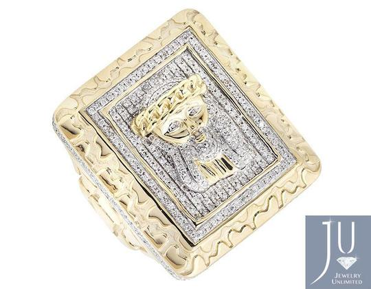Other Jesus XL Rectangle Nugget Frame 3D Genuine Diamond Ring 1.50ct