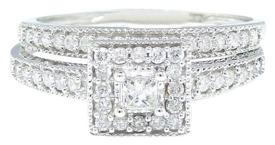 Preload https://img-static.tradesy.com/item/21202075/10k-white-gold-princess-cut-engagement-bridal-solitaire-diamond-set-055-ct-ring-0-1-540-540.jpg