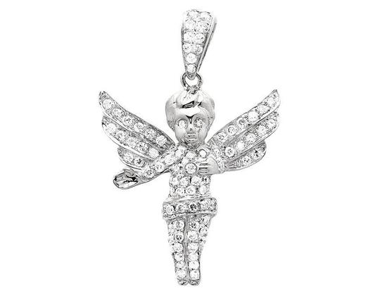 Other 3D Directing Angel 1 inch Genuine Diamond Pendant Charm 1.0ct