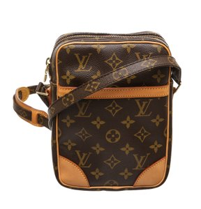Louis Vuitton Brown Monogram with Gold Messenger Bag