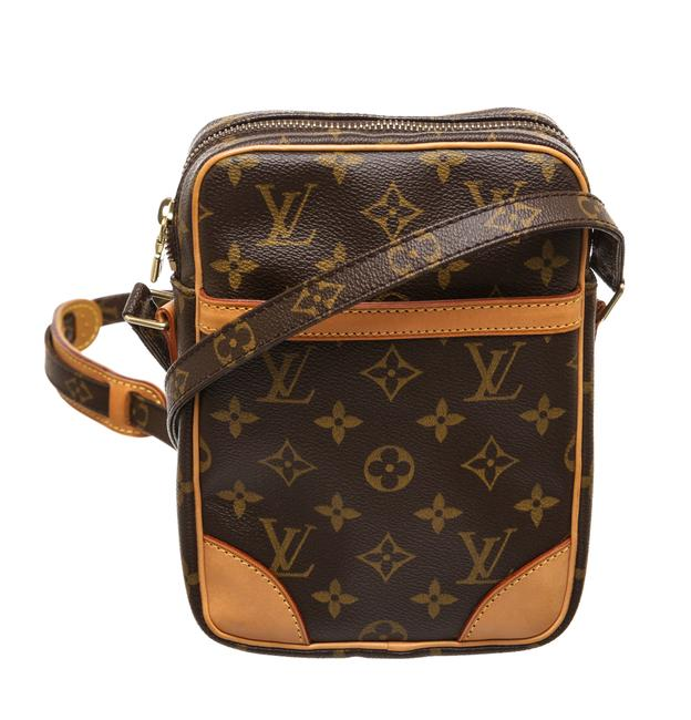 Item - Crossbody Danube Brown Monogram with Gold Canvas and Leather Messenger Bag