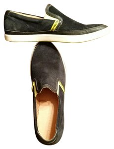 Cole Haan Mens Size 11.5 Boat Leather Black and lime Athletic