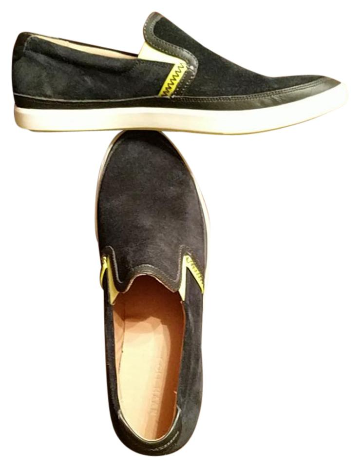 33c5a030eb75 Cole Haan Black and Lime C14247 Suede Leather Boat Sneakers. Size  US 11.5  ...