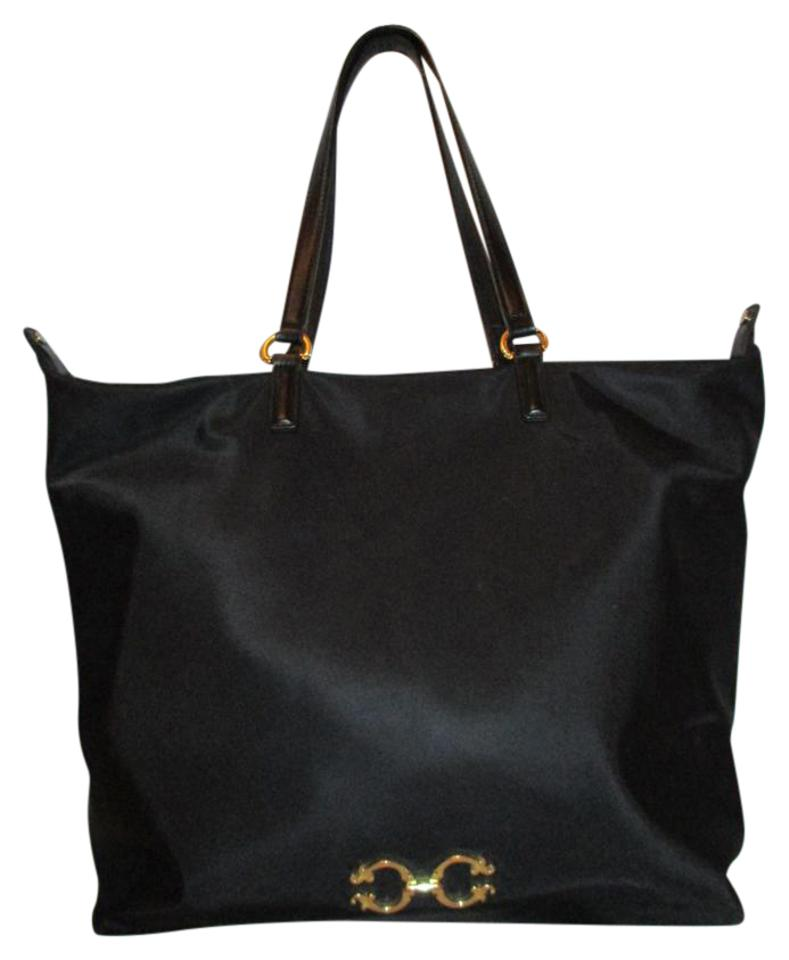 Large Black Nylon Tote
